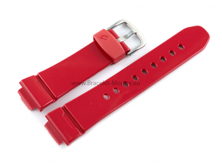 Bracelet montre Casio résine rouge finition brillante BG-5600SA-4, BG-5600SA, BG-5600