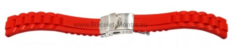 Bracelet montre - silicone - Modèle Vague - rouge 16mm