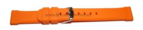 Bracelet de montre - silicone - extrafort - orange