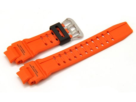 Bracelet de montre Casio p. GA-1000, GA-1000-4AER, résine, orange
