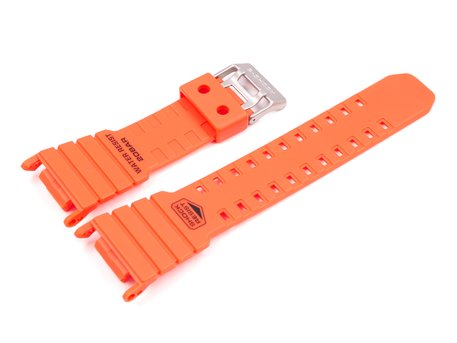 Bracelet Casio en résine orange pour DW-D5500MR-4JF, DW-D5000MR