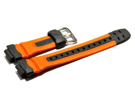 Bracelet de montre Casio p.G-315RL-4AV, résine, orange