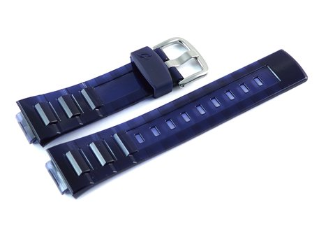 Bracelet de montre Casio résine bleue, finition brillante BGA-114-2, BGA-114